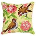 Orchidea Birds and Blossom Cushion Cross Stitch Kit