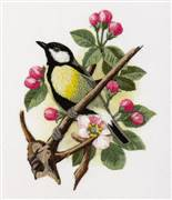 Panna Great-Tit on a Branch Embroidery Kit