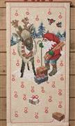 Permin Reindeer and Elf Advent Christmas Cross Stitch Kit
