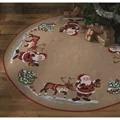 Permin Santa and Reindeer Tree Skirt Christmas Cross Stitch Kit