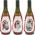 Permin Penguin Wine Aprons Christmas Cross Stitch Kit
