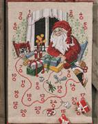 Permin Wrapping Up Advent Christmas Cross Stitch Kit