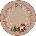 Permin Merry Christmas Tree Skirt Cross Stitch Kit