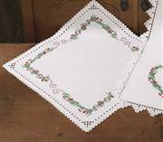 Permin Hardanger Berries Table Centre Embroidery Kit