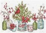 Dimensions Birds and Berries Christmas Cross Stitch Kit