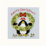 Bothy Threads PPP Prickly Holly Christmas Card Making Cross Stitch Kit