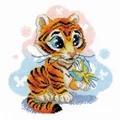 RIOLIS Curious Little Tiger Cross Stitch Kit