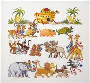 Permin Two by Two Cross Stitch Kit