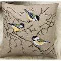 Permin Bluetits Cushion Cross Stitch Kit