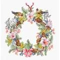 Luca-S December Wreath Christmas Cross Stitch Kit