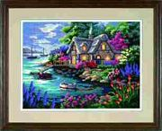 Dimensions Cottage Cove Tapestry Kit