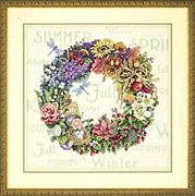 Dimensions Wreath of all Seasons Floral Cross Stitch Kit