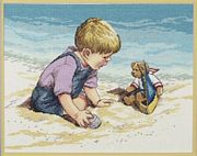 Janlynn Seashore Fun Cross Stitch Kit