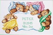 Janlynn Down For A Nap Birth Sampler Cross Stitch Kit
