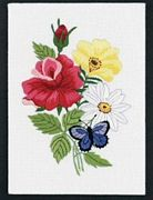 Butterfly and Floral Embroidery - Janlynn Embroidery Kit