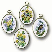 Janlynn Birds and Butterflies (Set of 4) Embroidery