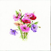 Heritage Poppy Posy - Evenweave Cross Stitch Kit