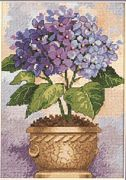Dimensions Hydrangea in Bloom Cross Stitch Kit