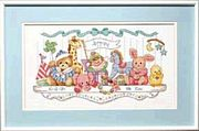 Toy Shelf Birth Record - Dimensions Cross Stitch Kit