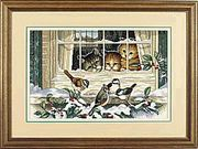 Dimensions Three Bird Watchers Cross Stitch Kit