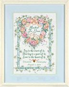 Dimensions United in Love Wedding Record Wedding Sampler Cross Stitch Kit