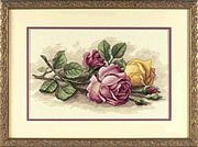 Dimensions Rose Cuttings Cross Stitch Kit