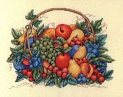Basket of Fruit - Bobbie G Designs Cross Stitch Kit