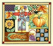 Fall Design (Button Included) - Bobbie G Designs Cross Stitch Kit