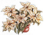 White Poinsettia - Bobbie G Designs Cross Stitch Kit