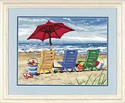 Beach Chair Trio - Dimensions Tapestry Canvas
