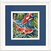 Dimensions Koi Pond Tapestry Canvas