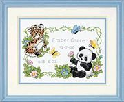 Baby Animals Birth Record - Dimensions Cross Stitch Kit