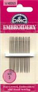 DMC Embroidery Needles Size 5