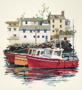 Derwentwater Designs Fishing Village Cross Stitch Kit