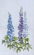 Delphiniums (Linen) - Derwentwater Designs Cross Stitch Kit