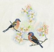 Derwentwater Designs Chaffinches and Blossom Cross Stitch Kit