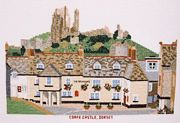 Corfe Castle, Dorset - Abacus Designs Cross Stitch Kit