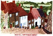 Gold Hill, Shaftesbury, Dorset - Abacus Designs Cross Stitch Kit