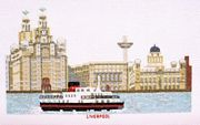 Liverpool - Ferry across the Mersey - Abacus Designs Cross Stitch Kit