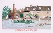 Abacus Designs Lower Slaughter, The Cotswolds Cross Stitch Kit