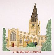 Chesterfield, St Mary and All Saints - Abacus Designs Cross Stitch Kit