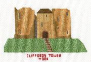 Abacus Designs Clifford's Tower, York Cross Stitch Kit