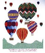 Abacus Designs The Balloonist's Prayer Cross Stitch Kit