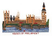 Abacus Designs Houses of Parliament Cross Stitch Kit