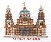 Abacus Designs St Paul's Cathedral, London Cross Stitch Kit