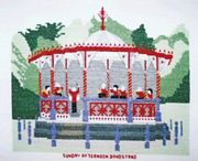 Abacus Designs Bandstand Cross Stitch Kit