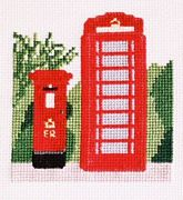 Pillar Box and Telephone Box - Abacus Designs Cross Stitch Kit