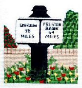 Trent and Mersey Canal Milepost - Abacus Designs Cross Stitch Kit