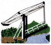 Lift Bridge - Llangollen Canal - Abacus Designs Cross Stitch Kit
