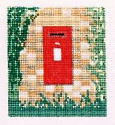 Abacus Designs Post Box in Wall Cross Stitch Kit